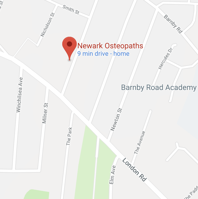 Harborough Osteopathic Clinic is located in Newark on Trent, Nottinghamshire